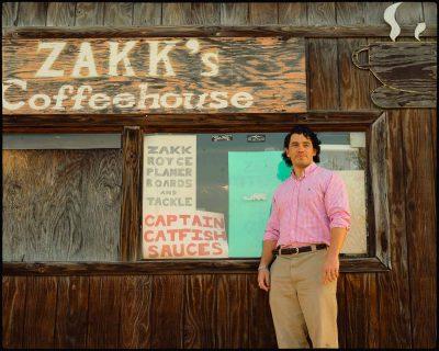 Jason at coffeehouse