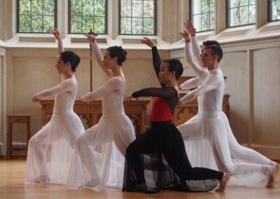 Dancers in Goodson Chapel