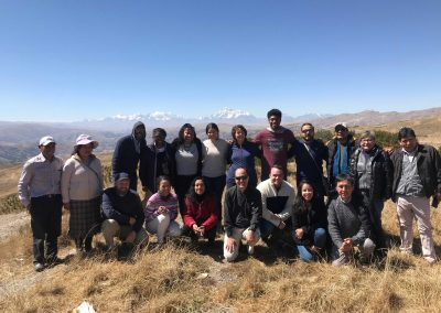 Students and Peruvian church leaders in Peru highlands