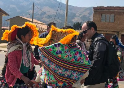 Welcome in village of Kcauri, Peru