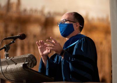 Edgardo Colón-Emeric preaches in Duke chapel.